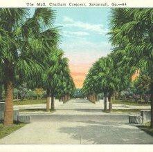 Image of 1121-057_0523 - The Mall, Chatham Crescent, Savannah, Ga.-84