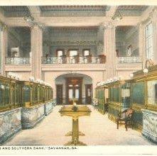 """Image of 1121-057_0557 - """"THE CITIZENS AND SOUTHERN BANK,"""" SAVANNAH, GA."""