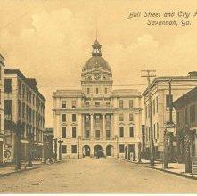 Image of 1121-057_0568 - Bull Street and City Hall, Savannah, Ga.