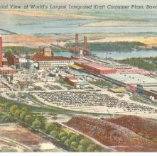 Image of 1121-057_1160 - Ariel View of World's Largest Integrated Kraft Container Plant, Savannah, Ga.