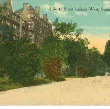 Image of 1121-057_1407 - Liberty Street Looking West, Savannah, Ga.