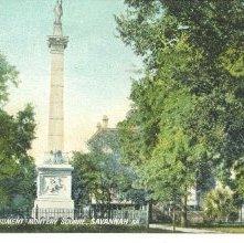 Image of 1121-057_1606 - PULASKI MONUMENT, MONTEREY SQUARE, SAVANNAH, GA.