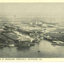 Image of 1121-057_1687 - SHIPPING SCENE AT SEABOARD TERMINALS, SAVANNAH, GA.