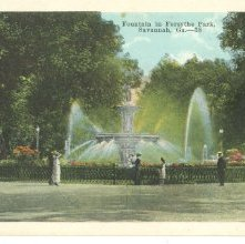 Image of 1121-057_1899 - Fountain in Forsyth Park, Savannah, Ga. ---38