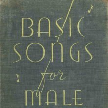 Image of M1495.B85 B3 - Basic songs for male voices