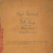 Image of M1670.H175 N3 - Negro Spirituals and Folk Songs arranged for Men's Voices.