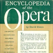 Image of ML102.O6 E9 - Encyclopedia of the opera.