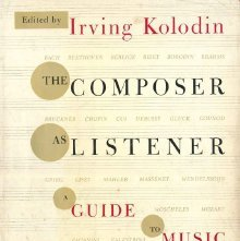 Image of ML90 .K63 - The composer as listener; a guide to music.