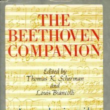 Image of ML410.B4 S27 - The Beethoven companion. Edited by Thomas K. Scherman and Louis Biancolli.