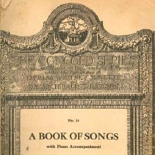 Image of M1994.D275 B5 - A Book of Songs with Piano Accompaniment.