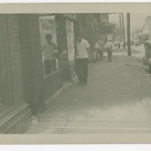 Image of 1121-100_1523 - Unidentified Man on a City Sidewalk
