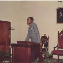 Image of 1121-100_1591 - Young Man Speaking from a Pulpit