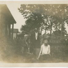 Image of 1121-100_1636 - Two Women on a Garden Bench
