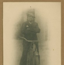 Image of 1121-100_1686 - Young Man on a Bicycle