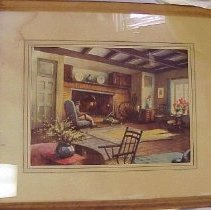 Image of Print of a living room - Print of a living room