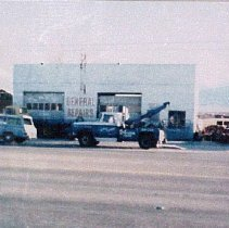 Image of Valley Garage - Associated Gas Station was torn down. A Garage was built in 1950's by Joe Wilson. Automobile Repair Garage. Valley Garage - Bought by Charlie Faught in 1963, and named it Valley Garage