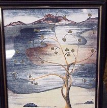 Image of Hand painted lithograph 5 colors on Bavarian Limestone - Hand painted lithograph 5 colors on Bavarian Limestone Jeff Dunn
