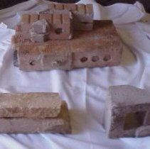 Image of Various bricks from old church