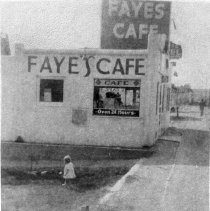 Image of Fayes Cafe - Fayes Cafe famous for home made pies, circa 1949 Where City Hall is now