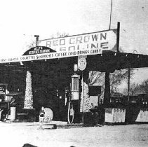 Image of Alf Hardy's Service Station 1927 - Alf Hardy's Service Station - 1927 first  service station in Mesquite