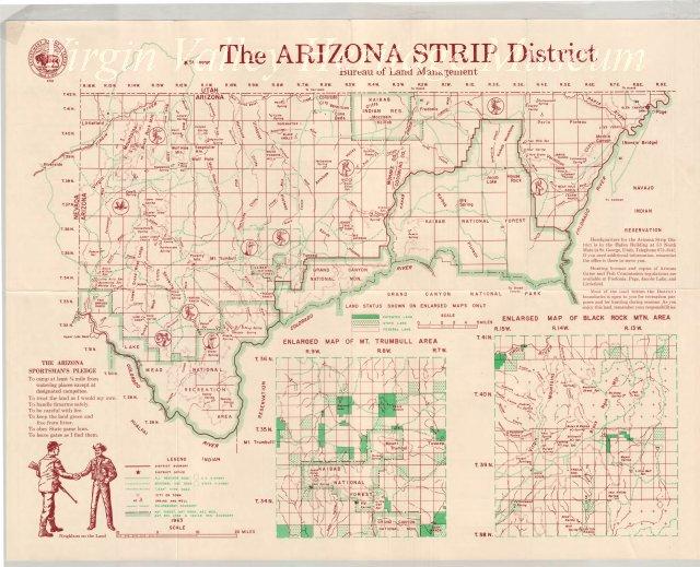Map Of Arizona Strip.Topo Map Of The Arizona Strip Area
