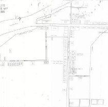 Image of Map drawn by Vaughn Abbott. Lot numbers and residents names