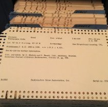 Image of Radiocarbon Dates Association punch cards