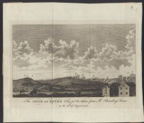 Image of PAP.WEBSTER.016 - The Siege of Rhode Island, taken from Mr. Brindley's house on the 25th of August, 1778