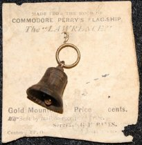 """Image of FIC.2014.021 - Commodore Perry's Flag-ship the """"Lawrence"""" Bell Charm"""