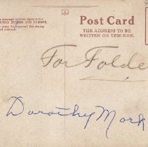 "Image of Back of postcard of Park Hotel, Suttons Bay, Mich.  ""Dorothy Mork"""