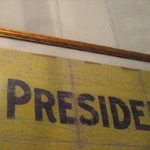 """Image of """"Mr. President"""" banner detail"""