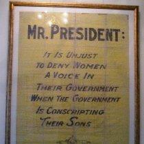 """Image of """"Mr. President"""" banner"""