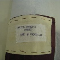 Image of Old label detail