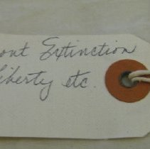 Image of Old tag (now on outside of roll) reverse