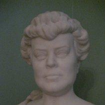 Image of Alva Belmont bust, detail