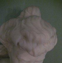 Image of Alva Belmont bust, top of head