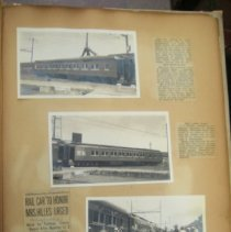 Image of photographs of Pullman rail cars named after women leaders