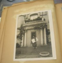 Image of photo of Nina Allender walking in front of NWP HQ