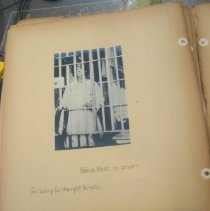 Image of Photograph of Helena Weed in prison for asking for the right to vote