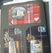 Image of postcards of Scottish tartans