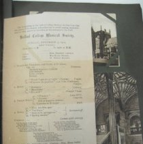 Image of concert program and postcards