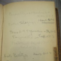 Image of page of address book