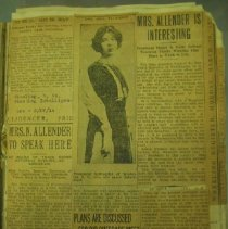 Image of page of newspaper clippings
