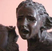 Image of Sybil Ludington sculpture, face detail