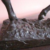 Image of Sybil Ludington sculpture, base detail