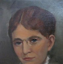 Image of Frances E. Willard portrait, face detail