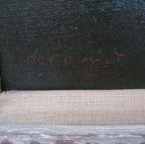 Image of Frances E. Willard portrait, signature detail