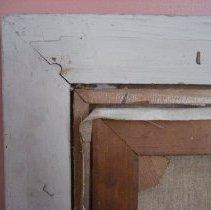 Image of Frances E. Willard portrait, reverse frame corner detail