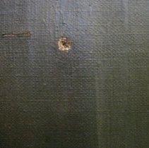 Image of Elizabeth Cady Stanton by Harriet de Forest, puncture detail