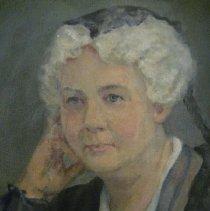 Image of Elizabeth Cady Stanton by Harriet de Forest, face detail